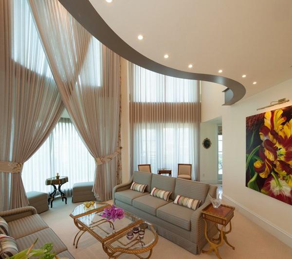 家装客厅窗帘效果图