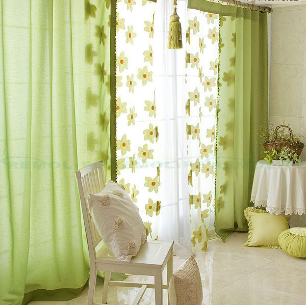 家装阳台窗帘效果图