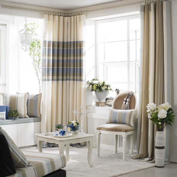 凯美隆条纹风格窗帘