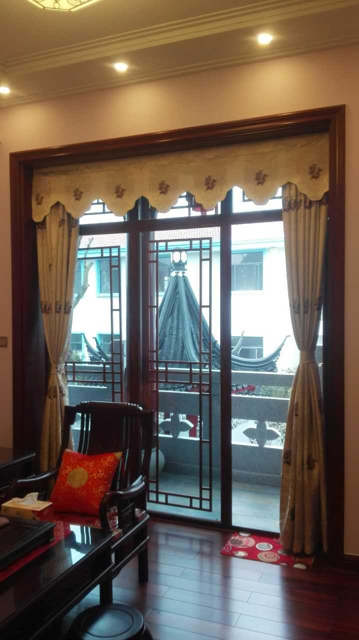 中式装修风格窗帘案例