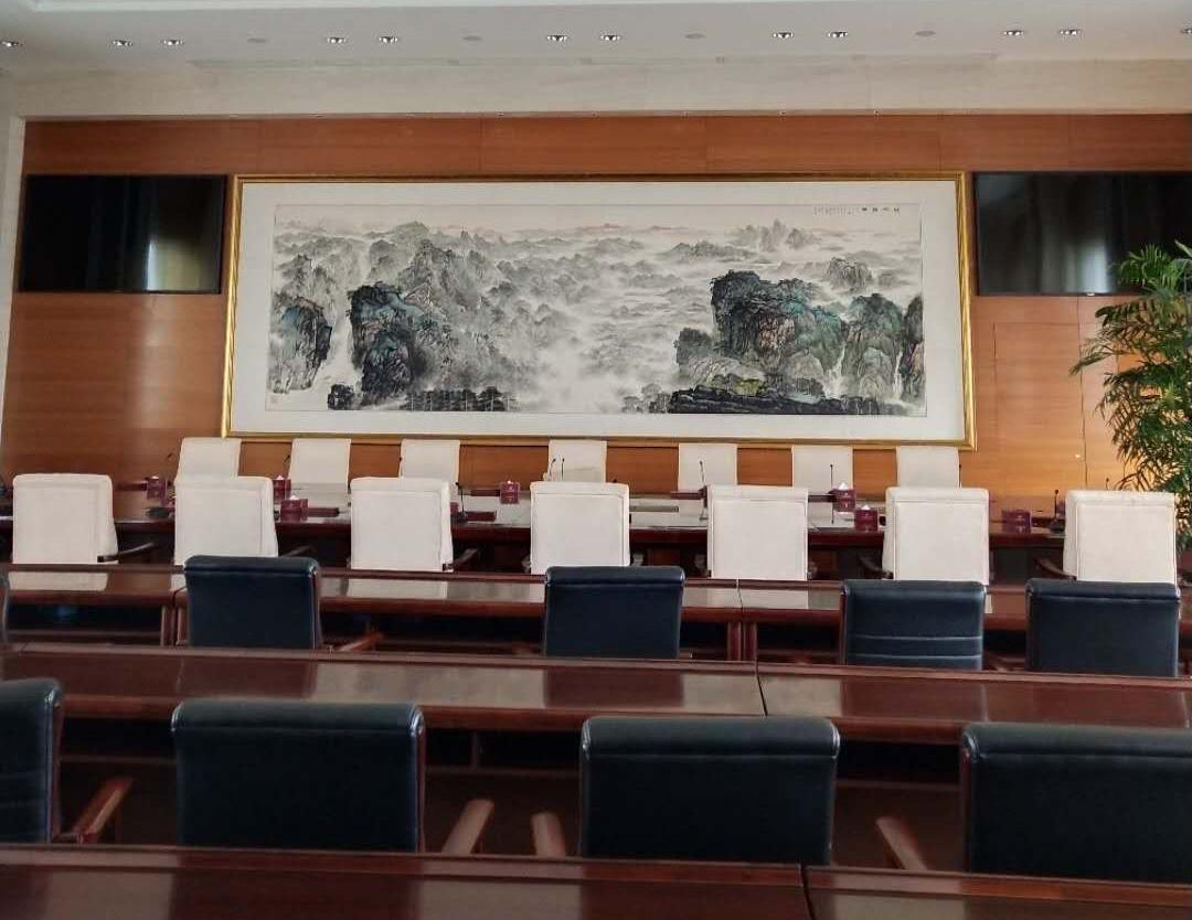 中共湖北省委会议室户外欧式铝百叶案例