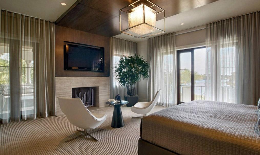 别墅卧室窗帘方案