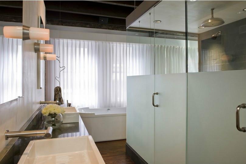 别墅卫生间窗帘方案